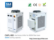 S&A laser chiller CWFL-800 for cooling 800W fiber laser cutting machin