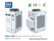 S&A water chiller CWFL-1500 for cooling 1500W metal fiber laser machin