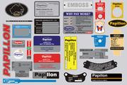 Papillon Nameplates   Metal Nameplates   Metal Tags   ID Tags